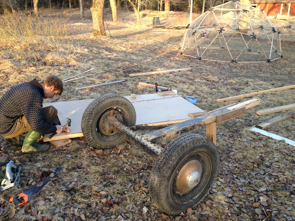 Hönshus på hjul