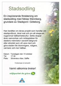 Föreläsningen i Säffle den 10 oktober.