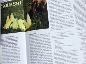 Artikel om squash i tidningen Åter.