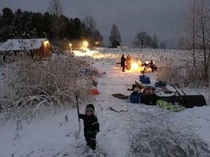 Vinterlek vid Nergården